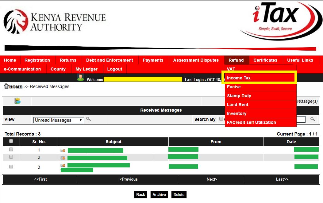 how to claim refund from kra