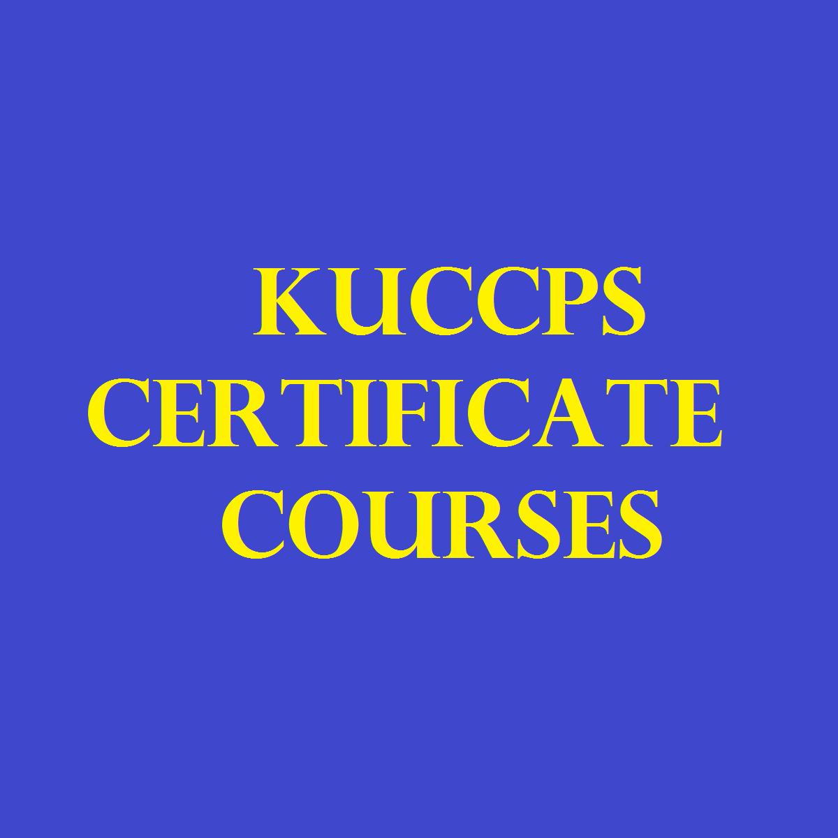 KUCCPS certificate courses