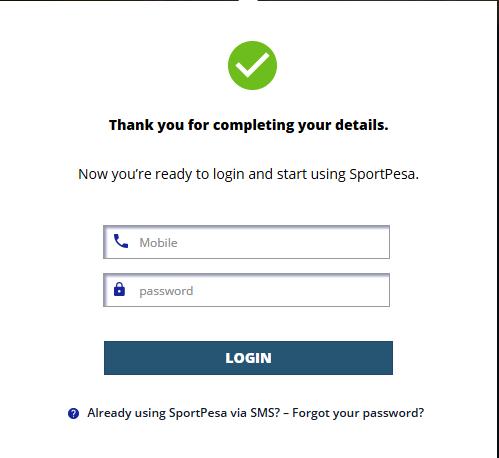 my sportpesa account