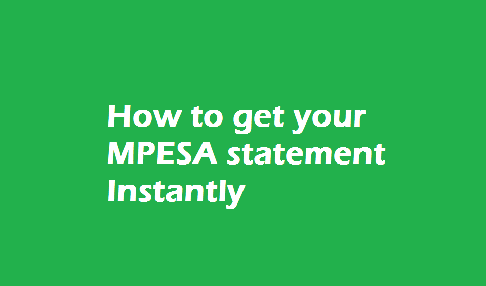 mpesa statement