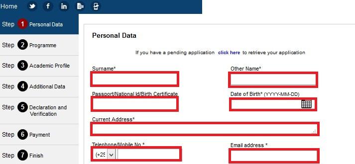 Kenyatta university online application