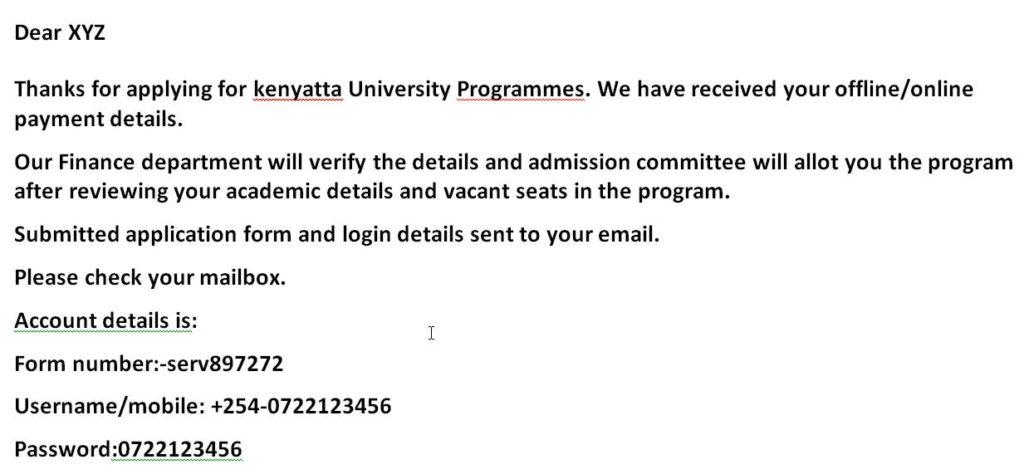 ku admission letters