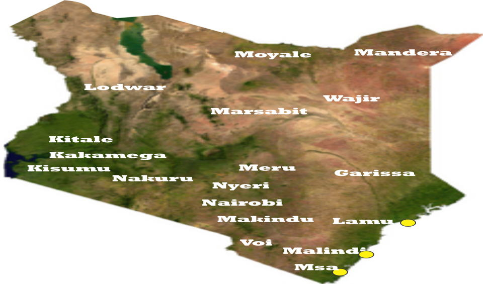 Counties in Kenya and their constituencies